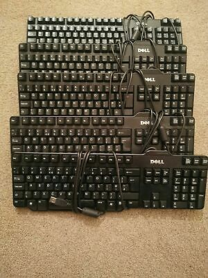 CHEAP DELL HP MICROSOFT KEYBOARD ,USB WIRED QWERTY UK LAYOUT, Fast Delivery • 6.75£