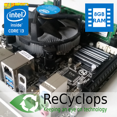 Mini ITX Bundle - I3-4130 CPU, 8GB Matched RAM, Gigabyte GA-H81N Motherboard • 70£
