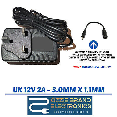 UK Power Adapter Charger Mains 12V AC DC Compatible For ACER Iconia W3-8 Tablet  • 11£
