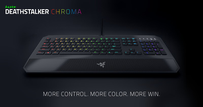 Razer Deathstalker Chroma PC/Mac Gaming USB Keyboard With LED Colours Options • 34.99£