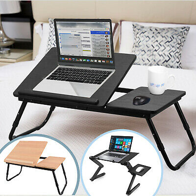 Foldable Laptop Table Stand Computer Desk Tray SofaBed Study Adjustable Portable • 23.99£