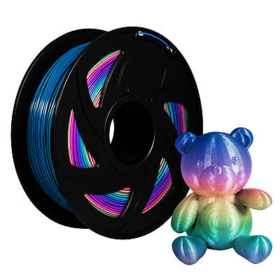 Colorful PLA 1.75mm 3D Printer Changing Filament 1kg Rainbow Multicolor Colour • 20.99£