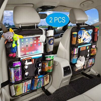 Car Back Seat Organiser Organizer Kids Toy Storage Bag Kick Mat Multi Pocket UK • 6.90£