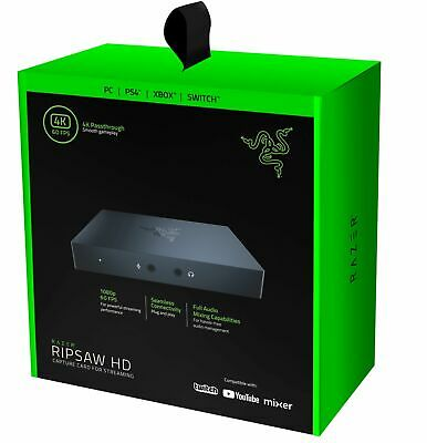 New Razer Ripsaw Game HD Capture Card  Streaming 1080P 4K Passthrough HDMI USB  • 149.99£