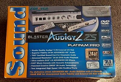 Creative Labs Sound Blaster Audigy 2ZS Platinum Pro Ed Complete Working Mint! • 50£