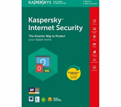 Kaspersky Internet Security 2020 1pc | 1 Device 1 Year License Download • 5.59£