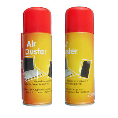 2 X 200ml Compressed Air Duster Cleaner Can Canned Laptop Keyboard Mouse Phones • 6£