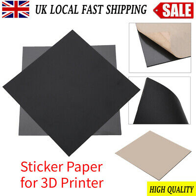 Magnetic Print Bed Tape Build Sheets Flex Plate Sticker Printing For  3D Printer • 9.56£