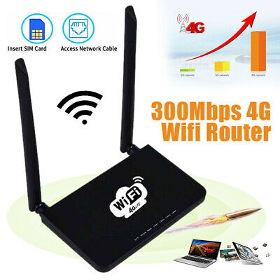 4G LTE Wireless Router 300Mbps Home Mobile WiFi Hotspot With/ SIM Card Slot Ns • 37.55£