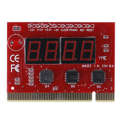1Pc Motherboard Led 4-digit Diagnostic Test PC Analyzer Network Repair Tool D F4 • 8.20£