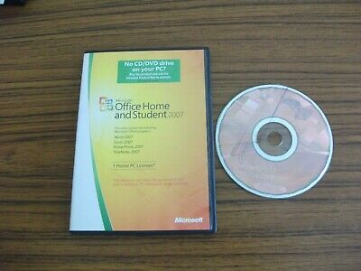 Microsoft Office Home And Student 2007 Word Excel Powerpoint Onenote • 14.99£