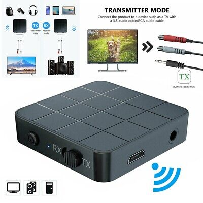 2in1 Wireless 5.0 Audio Transmitter Receiver Music/Adapter AUX RCA PC Speaker UK • 5.68£