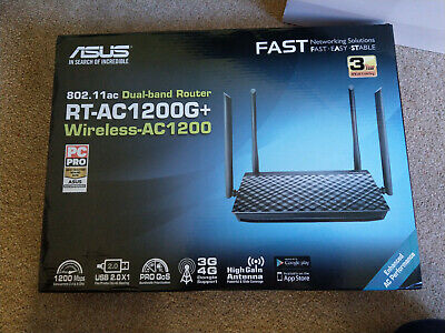 ASUS RT-AC1200G+ Dual-Band Gigabit Wireless Router, Router/Access Point/Bridge • 45£