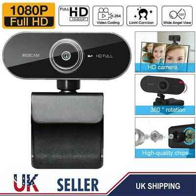 Full HD 1080P Autofocus HD Webcam Camera Microphone For Laptop Desktop Computer • 12.99£