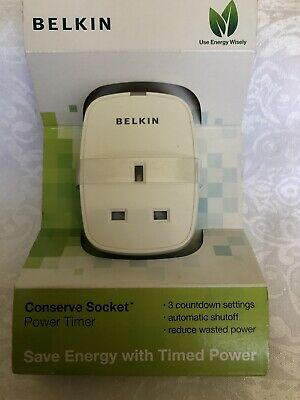 Belkin Conserve Socket Power Timer NEW • 15£