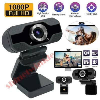 Full HD 1080P Webcam Video Camera With Microphone USB For PC Desktop Laptop OS • 13.99£