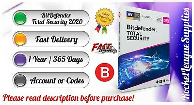 Bitdefender Total Security 2020 (5PC/ 1 YEAR / 365 DAYS) Website Account PC MAC • 1.99£