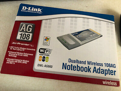 D-Link Dualband Wireless Notebook Adapter 108AG DWL-AG660~BRAND NEW • 4£
