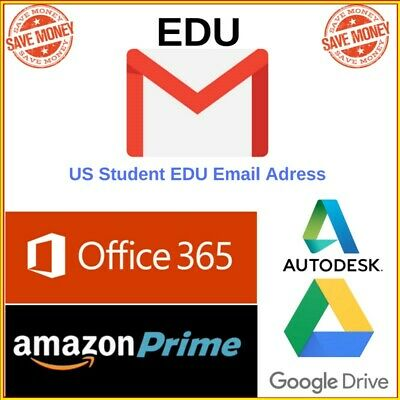 Edu Email 6 Months Amazon Prime Unlimited Google Drive Storage US Student Email • 1.56£