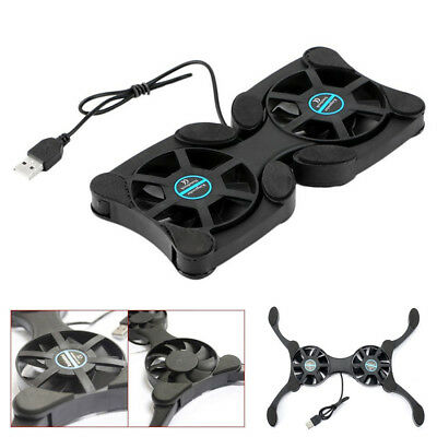 Portable Gaming Laptop Notebook Cooling Stand Pad With 2 Fan Chill Mat Cooler • 6.73£