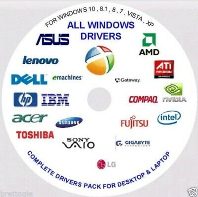 PC & LAPTOP Driver Pack For Windows XP/Vista/7/8/8.1/10 Install & Update DVD  • 2.90£