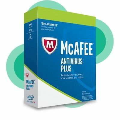 McAfee Antivirus Plus 2020 Ten Devices / 1Year Protection Genuine License • 3.75£
