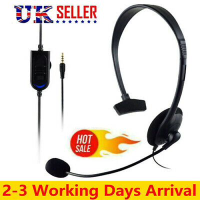 Headsets Wired With Microphone Call Computer For PC Laptop Headphones UK STOCK • 7.50£