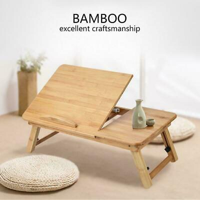 Bamboo Folding Laptop Notebook Table Bed Sofa Lap Tray PC Desk Stand Portable. • 12.98£