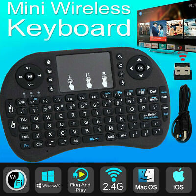 Mini Backlit Keyboard I8 2.4GHz Wireless Keyboard Touchpad For TV Box Android PC • 7.79£