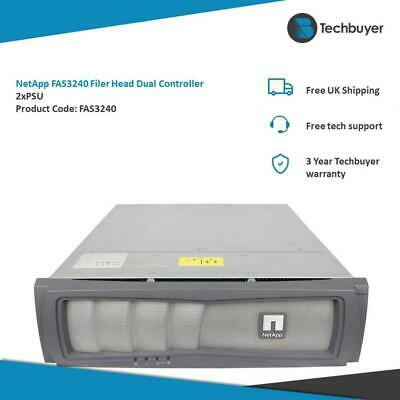 NETAPP FAS3240 FILER HEAD DUAL CONTROLLER 2 X PSU • 300£