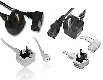 Select Metre Meter Iec C13 Mains Power Cable Monitor Pc Kettle Lead Uk Pin Plug • 6.65£