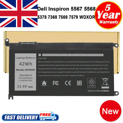 Battery For Dell Inspiron 15 3580 3584 3585 5565 5567 5568 5570 Laptop Notebook • 36.99£