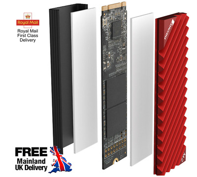Jonsbo M.2-3 Heat Sink Cooling Pads NVME 2280 SSD Radiator PC RED [UK Stock] • 9.99£