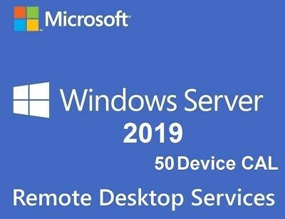 Server 2019 RDS 50 Device Cal Remote Desktop Service • 65£