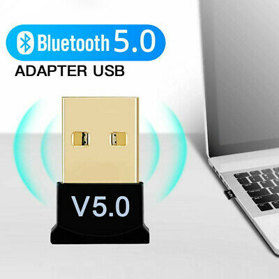 USB Bluetooth V5.0 Mini Adapter Wireless Dongle Receiver For Windows 7-10 XP PC • 3.95£