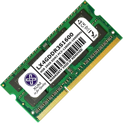 XUM 4GB 8GB Memory RAM Laptop PC3-12800 (DDR3-1600) 204 Non-ECC Unbuffered Lot • 28.99£