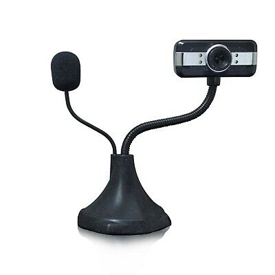 HellCrack USB 2.0 HD Web Cam With Microphone For PC/Laptop (Next Day Delivery) • 9.99£