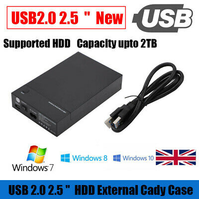 3.0 2.5  3.5  SATA Hard Drive Disk External Enclosure SSD HDD Portable Case X8N3 • 13.46£
