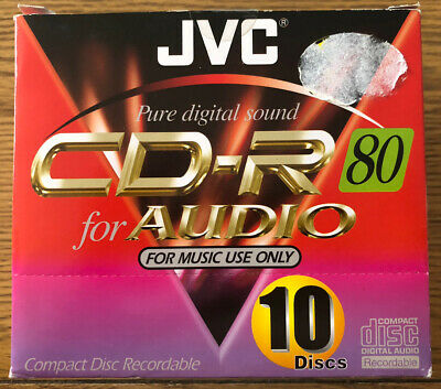 JVC Music CD-R 80 For AUDIO Box Of 10 Unopened • 9£