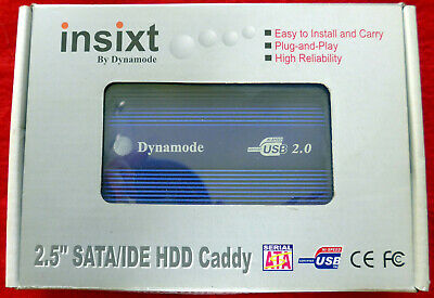 Insixt / Dynamode USB 2.0 2.5  SATA/IDE Caddy Fitted With Sata 111GB Hard Drive • 17.75£