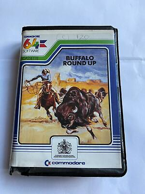 Vintage 1984 Commodore 64 C 64 Buffalo Round Up Cassette Game Clam Case Rare • 4.99£