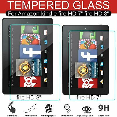 Clear HD 7  Inch 8  Inch Tempered Glass Screen Protector For Amazon Kindle Fire • 3.25£