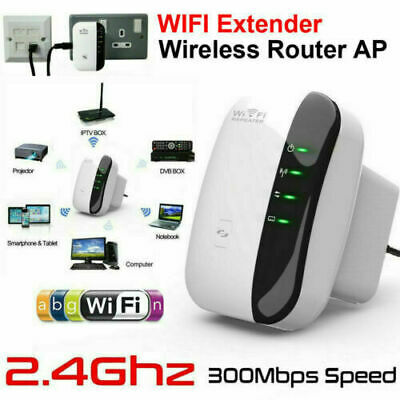 WiFi Range Extender Amplifier Super Booster 300Mbps  Speed Wireless Repeater • 11.79£