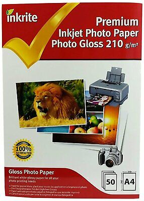 Inkrite Photo Plus Professional Paper Photo Gloss 210gsm A4 (50 Sheets) • 7.99£