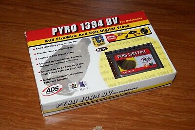 Pyro Firewire IEEE 1394 PCMCIA PC Card Cardbus Adapter For Mac PC Laptop - Boxed • 26£