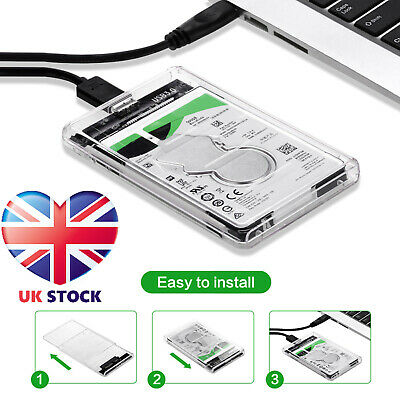 SATA To USB 3.0 Hard Drive Case Enclosure For 2.5 Inch SSD / HDD External • 6.19£
