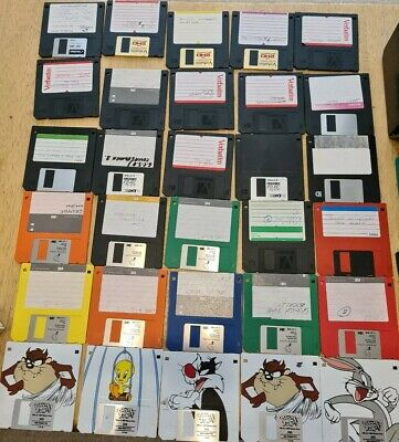 30 Floppy Discs 2HD  Including 5 DISNEY Characters Plus 4 Containers • 12.50£