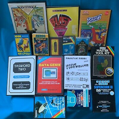 15x Sinclair ZX Spectrum Educational Tools And Games Bundle • 12.50£