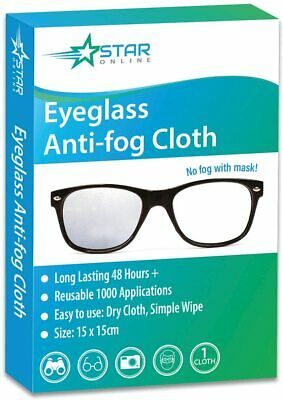 1 X Pack Anti-Fog Wipe, Eyeglasses Cleaning Cloths, Cleaning No Fog With Mask • 5.99£