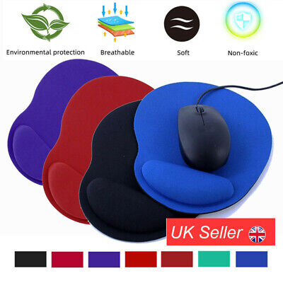 Anti-Slip Mouse Pad / Mouse Mat With Gel Wrist Support For PC Macbook Laptop • 3.32£